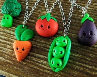 Happy Kawaii Vegetable Necklace