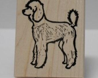 Standard Poodle rubber stamp