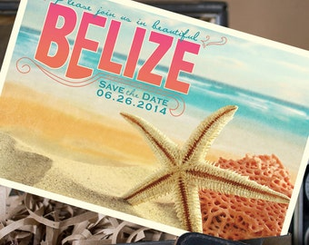 Travel Postcard Save the Date (Belize) - Design Fee