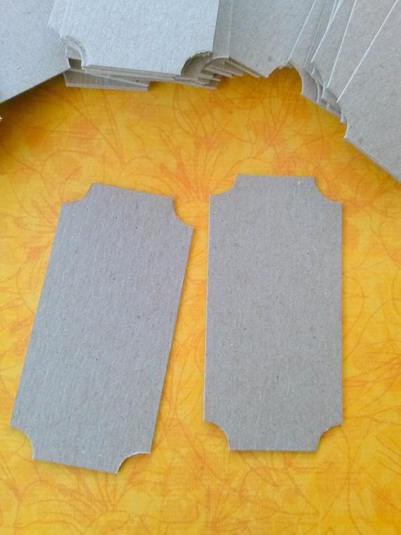 Scrapbook Ticket, Blank Ticket, Tag, Earring Card, Set of 45, medium size