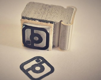 instagram Social Media Icon Rubber Stamp Phone app Ipad icon social networking