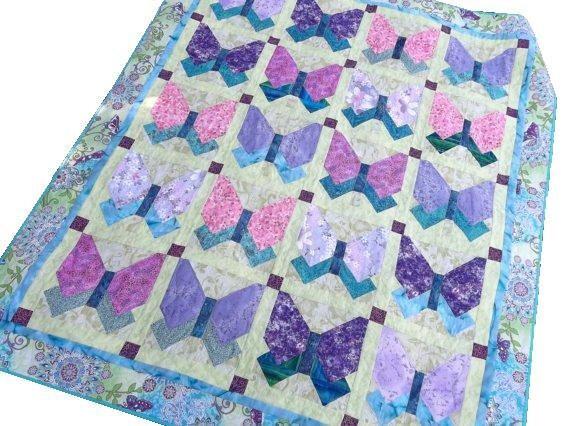 Butterfly Patchwork Quilt, Suenos de Mariposa