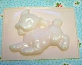 Vintage Puppy Pink Plastic Chocolate Mold