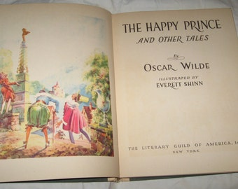 Vintage The Happy Prince & Other Tales by Oscar Wilde illus by Everett Shinn 1940