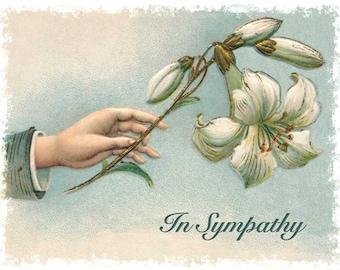 Sympathy Note Card - Vintage