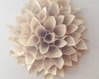 Spring Wreath Paper Flower Wreath - Paper Dahlia - Spring Wreath - Wall Hanging - Door Wreath - Fall Wall Decor - Spring Flower Decor
