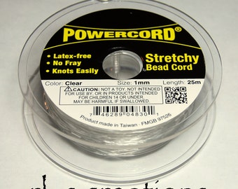 Powercord 1MM Clear Stretch Cording