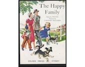 Childrens Vintage Illustration Notebook - Happy Family