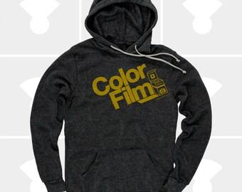 Men's Hoodie Color Film, Men's Pullover Sweatshirt, Film Camera Typography Hoody, S,M,L,Xl,Xxl (2 Colors) for Men