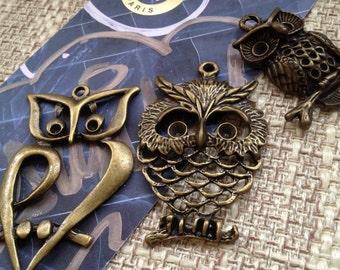 Set of 3 big owl - code 2203.2125.2216