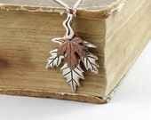 Maple Leaf necklace. Forest leaves.Maple Leaf pendant. Front Page item from Canadian shop