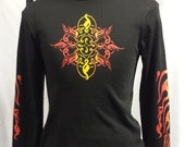 CarbonX Long Sleeve - Printed Flame- Flame retardant