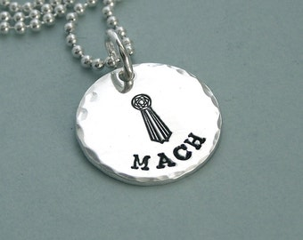 Little MACH Tag - Dog Agility Necklace - Hand Stamped Sterling Silver - Canine Agility Jewelry