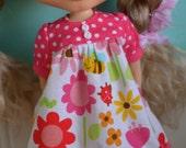 SALE - Smock Dress for Blythe - Ladybug Garden
