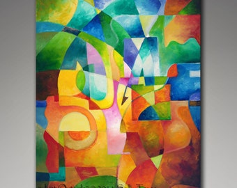 Abstract painting giclee print on canvas from my original abstract expressionist painting, 30x40