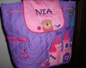 Personalized Stephen Joseph Quilted Back Pack Princess Bear by Never Felt Better