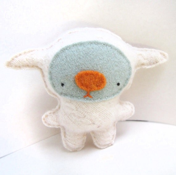 Ivory Foo - Recycled Cashmere Sweater Plush Toy MADE TO ORDER