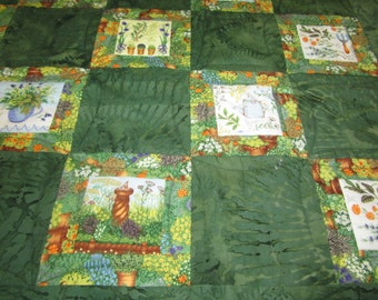 Look of Summer Batik Patchwork Small Quilt or Table Cover  174