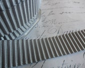5/8 Silver Grey Acordian Pleated Satin Ribbon Trim
