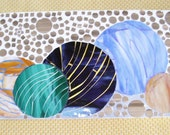 Glass wall art Mosaic spheres marbles