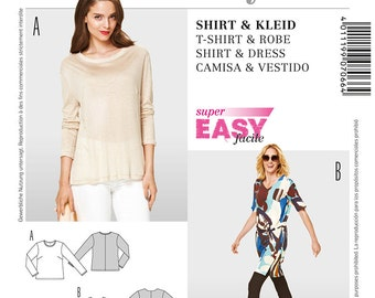 Burda Style Sewing PATTERN - 7066 Shirt & Dress - Sz 10 -24
