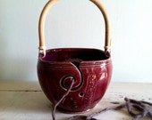 Yarn Bowl, Knitting bowl, yarn organizer, craft supplies, knitting and crochet
