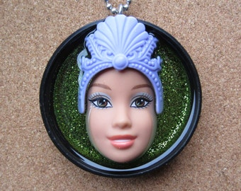 Mermaid - Upcycled Barbie Doll Pendant