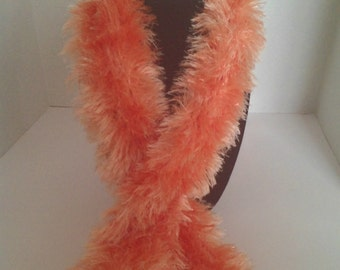 Apricot Knitted Scarf