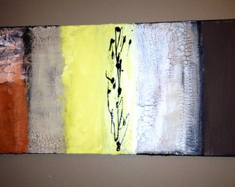 Abstract acrylic painting 12x24 **ON SALE**