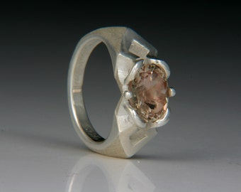 Carrie Silver Ring with an Oregon Sunstone jc822m