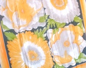 Apricot Daisy - a vintage 1980's hand-painted Vera Neumann pure silk scarf -  tout soie - 31 inches