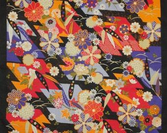 Japanese Fabric Furoshiki 'Black Bamboo' Cotton 50cm w/Free Insured Shipping