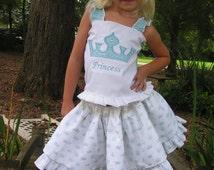 2pc Pageant princess custom outfit skirt set sz applique princess