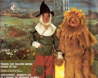 McCall's 2203 Scarecrow or Lion  Oz Costumes Travel the Yellow Brick Road