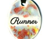 Runner Ceramic Necklace in Multicolor Speckle