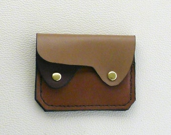 Small Leather  Wallet, Coin Purse, Card Case, Earth Colors Leather Wallet