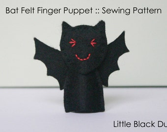 Pattern: Bat Felt Finger Puppet
