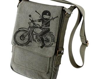Ninja motorcycle rider Military Style Ipad Bag