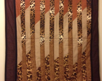 Animal Print Jelly Roll Quilt - Lap Size