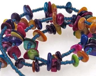 Handmade Colorful Chip Eyeglass Chain/Leash