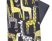 Giraffe Love on Grey Passport Cover/Holder