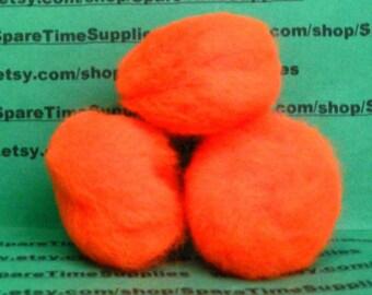 """Fibre Craft - 1576-12 Pom Pom - orange - 1 1/2"""" (38mm) - 9 pcs"""