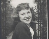 vintage photo Photobooth Teenage Cutie w Big Smile photo booth
