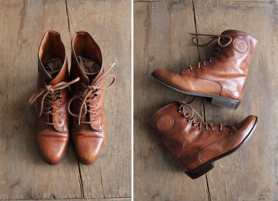 leather boots / lace up boots / ankle boots 5