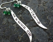 100% Donated to FCF - Keep on Tuckin hand-stamped Sterling Silver Wave Earrings