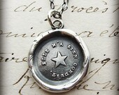 North Star Necklace ~ Star Necklace ~ Guiding Star Wax Seal Necklace ~ You Are My True North ~ Inspirational Jewelry