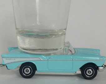The ORIGINAL Hot Shot, Shot Glass, '57 Chevy Bel Air Convertible, Classic Hot Rods, Matchbox
