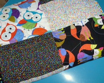 The Fox and the Owl Quilt for Baby crib throw blanket - reduced