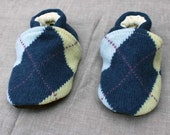 Argyle Slippers Kids Size 18-24 months old made from recycled materials