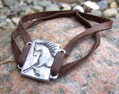 Unbridled Adjustable Horse Bracelet, Horse Jewelry, Gift for Horse Lover, Brown or Black